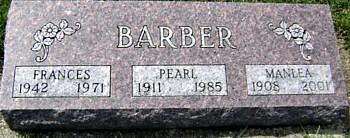 BARBER, FRANCES - Ringgold County, Iowa | FRANCES BARBER