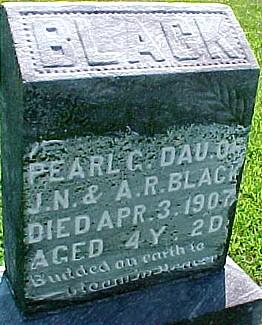 BLACK, PEARL G. - Ringgold County, Iowa | PEARL G. BLACK