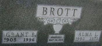 MICHAEL BROTT, ALMA L. - Ringgold County, Iowa | ALMA L. MICHAEL BROTT