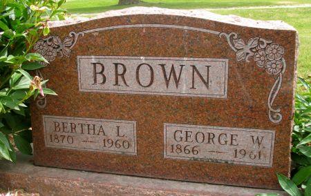 BROWN, GEORGE W. - Ringgold County, Iowa | GEORGE W. BROWN