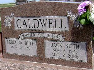 (MONTGOMERY) CALDWELL, REBECCA BETH