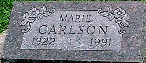 CARLSON, MARIE - Ringgold County, Iowa | MARIE CARLSON