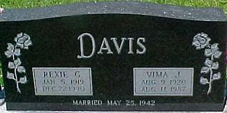 DAVIS, REXIE G. - Ringgold County, Iowa | REXIE G. DAVIS