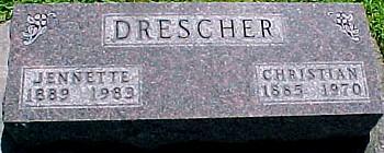 DRESCHER, JENNETTE PHOEBE (BAILEY) - Ringgold County, Iowa | JENNETTE PHOEBE (BAILEY) DRESCHER