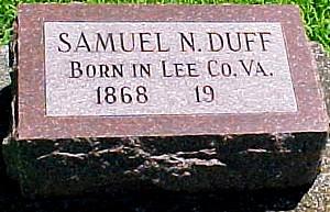 DUFF, SAMUEL N. - Ringgold County, Iowa   SAMUEL N. DUFF