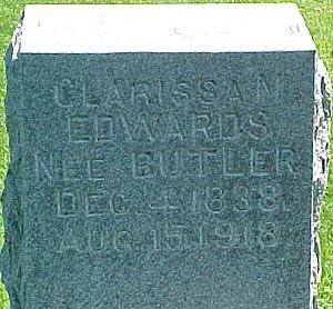 EDWARDS, CLARISSA MALINDA (BUTLER) THOMSON - Ringgold County, Iowa | CLARISSA MALINDA (BUTLER) THOMSON EDWARDS