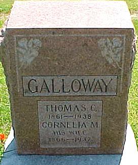 CARD GALLOWAY, CORNELIA MAY - Ringgold County, Iowa | CORNELIA MAY CARD GALLOWAY