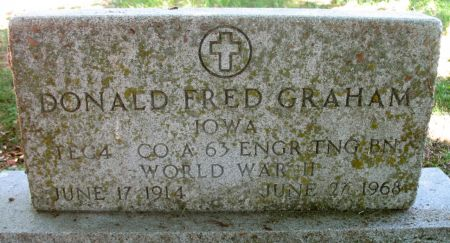 GRAHAM, DONALD FRED - Ringgold County, Iowa | DONALD FRED GRAHAM
