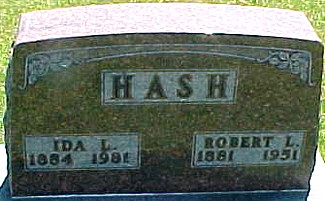 HASH, IDA L. - Ringgold County, Iowa   IDA L. HASH