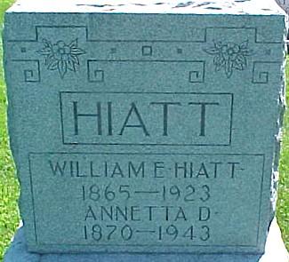 BOWEN HIATT, ANNETTA D. - Ringgold County, Iowa   ANNETTA D. BOWEN HIATT