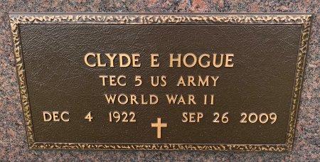 HOGUE, CLYDE E. - Ringgold County, Iowa | CLYDE E. HOGUE