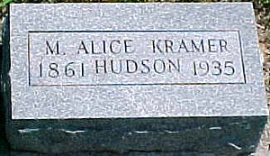 KRAMER HUDSON, MARY ALICE - Ringgold County, Iowa | MARY ALICE KRAMER HUDSON