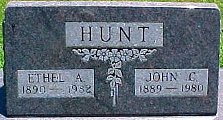 WAUGH HUNT, ETHEL A. - Ringgold County, Iowa | ETHEL A. WAUGH HUNT