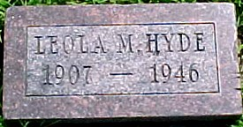 HYDE, LEOLA M. - Ringgold County, Iowa | LEOLA M. HYDE