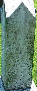 JARMAN, MARY A. - Ringgold County, Iowa   MARY A. JARMAN