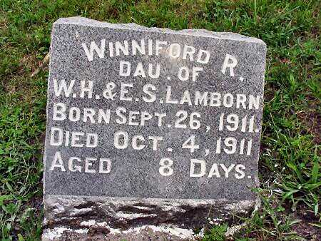 LAMBORN, WINNIFORD R. - Ringgold County, Iowa   WINNIFORD R. LAMBORN