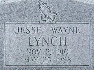 LYNCH, JESSE WAYNE - Ringgold County, Iowa   JESSE WAYNE LYNCH
