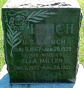 LYNCH, U. S. G. [ULYSSES S. GRANT] - Ringgold County, Iowa | U. S. G. [ULYSSES S. GRANT] LYNCH