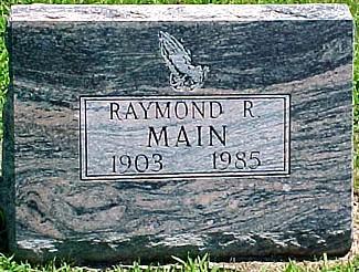 MAIN, RAYMOND RALPH - Ringgold County, Iowa   RAYMOND RALPH MAIN