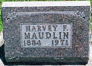 MAUDLIN, HARVEY FRANKLIN - Ringgold County, Iowa | HARVEY FRANKLIN MAUDLIN