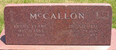 MCCALLON, BESSIE MAE - Ringgold County, Iowa | BESSIE MAE MCCALLON