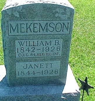 THOMSON MEKEMSON, JANETT MCROBERT - Ringgold County, Iowa | JANETT MCROBERT THOMSON MEKEMSON