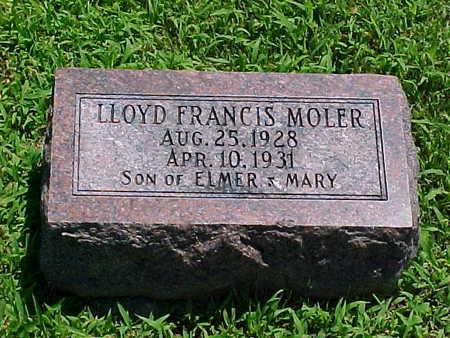 MOLER, LLOYD FRANCIS - Ringgold County, Iowa   LLOYD FRANCIS MOLER