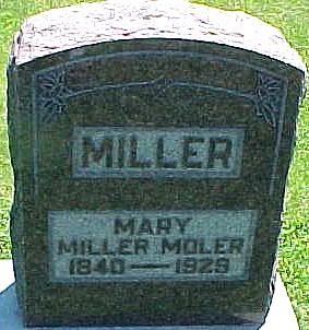 MOLER, MARY A. (MILLER) - Ringgold County, Iowa   MARY A. (MILLER) MOLER