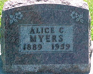 MYERS, ALICE C. - Ringgold County, Iowa | ALICE C. MYERS