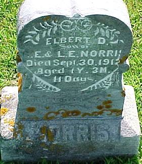 NORRIS, ELBERT D. - Ringgold County, Iowa | ELBERT D. NORRIS