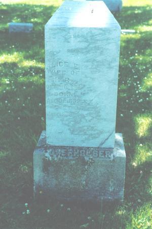 OVERHOLSER, ALICE E. - Ringgold County, Iowa | ALICE E. OVERHOLSER