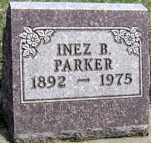 PARKER, INEZ B. - Ringgold County, Iowa | INEZ B. PARKER