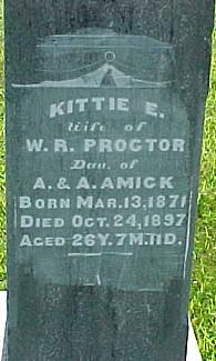 PROCTOR, KITTIE ELLEN (AMICK) - Ringgold County, Iowa | KITTIE ELLEN (AMICK) PROCTOR