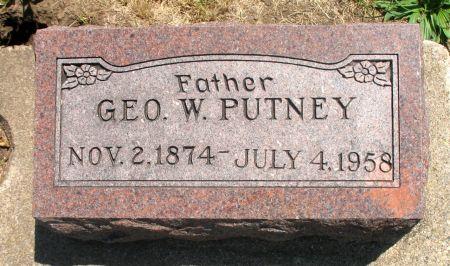 PUTNEY, GEORGE W. - Ringgold County, Iowa   GEORGE W. PUTNEY