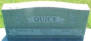 WETTER QUICK, JUNE I. - Ringgold County, Iowa | JUNE I. WETTER QUICK