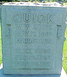 QUICK, ELIZA (MILLER) - Ringgold County, Iowa | ELIZA (MILLER) QUICK