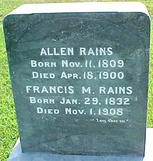 RAINS, FRANCIS MANERVA (HOLLINGSWORTH) BEAMAN - Ringgold County, Iowa | FRANCIS MANERVA (HOLLINGSWORTH) BEAMAN RAINS