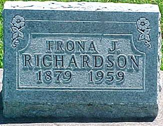 RICHARDSON, FRONA JULIA - Ringgold County, Iowa   FRONA JULIA RICHARDSON