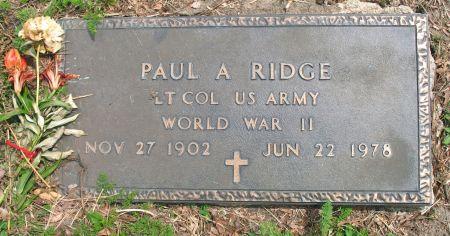 RIDGE, PAUL A. - Ringgold County, Iowa | PAUL A. RIDGE