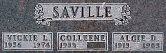 SAVILLE, ALGIE D. - Ringgold County, Iowa   ALGIE D. SAVILLE