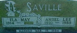SAVILLE, ILA MAY (SUTHERLAND) - Ringgold County, Iowa | ILA MAY (SUTHERLAND) SAVILLE