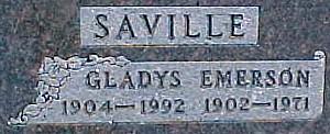 SAVILLE, EMERSON R. - Ringgold County, Iowa | EMERSON R. SAVILLE