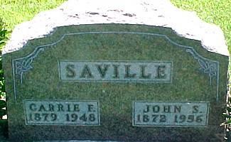 SAVILLE, JOHN SILAS - Ringgold County, Iowa   JOHN SILAS SAVILLE