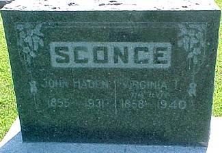 HUDSON SCONCE, VIRGINIA - Ringgold County, Iowa | VIRGINIA HUDSON SCONCE