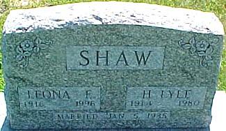 SHAW, LEONA F. (BISHOP) - Ringgold County, Iowa | LEONA F. (BISHOP) SHAW