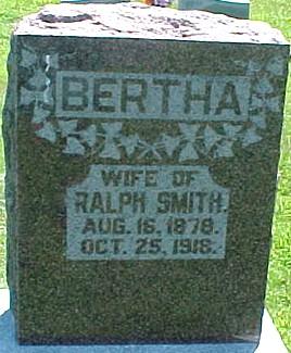 SMITH, BERTHA - Ringgold County, Iowa | BERTHA SMITH