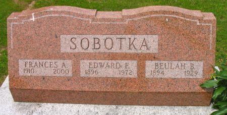 SOBOTKA, EDWARD F. - Ringgold County, Iowa | EDWARD F. SOBOTKA