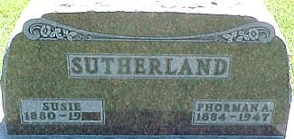 SUTHERLAND, SUSIE (FORMAN) MOTSINGER - Ringgold County, Iowa | SUSIE (FORMAN) MOTSINGER SUTHERLAND