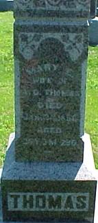 THOMAS, MARY E. - Ringgold County, Iowa   MARY E. THOMAS