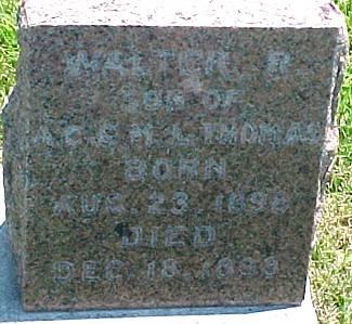 THOMAS, WALTER R. - Ringgold County, Iowa | WALTER R. THOMAS